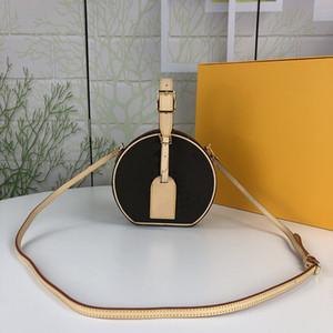 Com mini sacos puros boite hatbox mulheres luxury box bolsas designers lona petite moda flores saco xqse ombro marrom com cha h eee