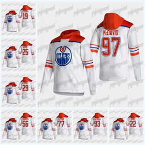 Edmonton Oilers 2021 Sweat à capuche Retro Retro Connor McDavid Leon Drisaitl Alex Chiasson Darnell Infirmière James Neal James Neal Dominik Kahun