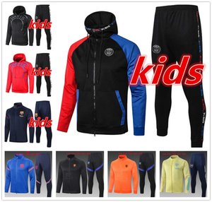 2021 top new kids tracksuit hoodie jacket set boys clothes soccer tracksuit 20 21 football kits soccer jersey football training suit jerseys