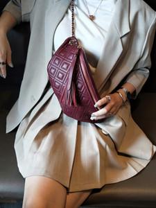 Tassel Bag Fashion style woman bags genuine leather fanny packs for sport outdoor travel bag for ladies girls waist bag LJ201023