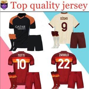 DZEKO PEROTTI PASTORE Zaniolo camisa de futebol roma 2020 2021 TOTTI camisa 20 camisa kit 21 de futebol de Rossi como pé maillot de