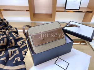 2021 New High Quality Luxury Designer Shoulder Bag Medium 22cm Saddle Handbag PVC Women's Fashion Crossbody Bag Purse
