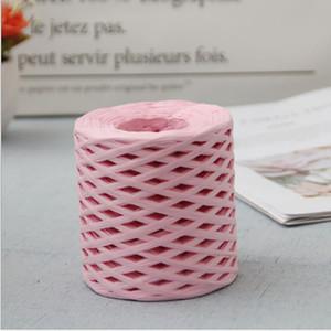 1Roll 200m corda hessian juta juta twine corda corda corda rústica presente de natal embrulho embalagem fio de embalagem decorções de casamento hhe3387