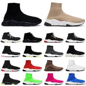 NUEVA LLEGADA SOCK SHOPS MENS MUJER PLATAFORMA PLATAFORMAS Sneakers Beige Todos los calcetines negros de graffiti botines Zapatos casuales Lujos de lujos BB