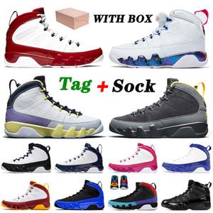 retro 9 9s 2021 AVEC BOÎTE Jumpman 9 9s Hommes Femmes Chaussures De Basket-ball Cactus Fleur Université Or Blanc Gym Rouge Racer Bleu Baskets Baskets TAILLE 40-47