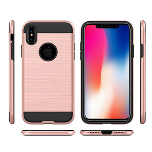 Brushed Commuter Case For Iphone XS XR 8 7 Plus Shockproof Hard PC+TPU Armor Phone Case For Samsung Galaxy Note 9 S9 Plus LG Stylo