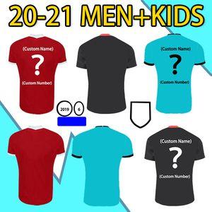 20 21 En Kaliteli Hayranları Sürüm Eve Uzakta Futbol Forması Virgil Firmo Mané M. Salah Henderson Robertson Man + Çocuklar Kısa Kollu Spor Gömlek