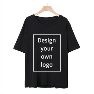 Your OWN Design Logo Picture Custom Men and women DIY Cotton T shirt Short sleeve Casual T shirt tops Size S 4XL