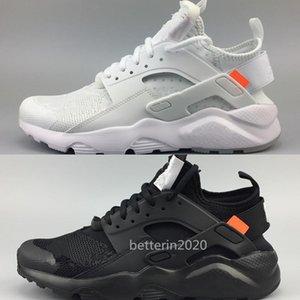 2019 Nouveau Chaussures de course pour hommes Nike Huaraches Ultra 4 Hommes Femmes Noir Blanc Chaussures de sport Oregon AC.2017 Zapatillas Huarache taille Sneakers 36-45