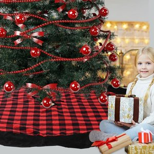 Christmas Tree Skirt Tree Skirt Christmas Ornaments Festival Thicking Flannelette Edge Xmas Ornaments Household Items