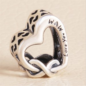 S925 silver ladies Heart Charm Bead Fashion Women Jewelry Stunning Design European Style Fit For Bracelet New Arrival