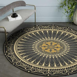 Black Gold American retro Bohemian living room bedroom basket chair anti slip round mat carpet