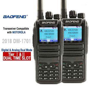 2pcs Baofeng DM-1701 Digital Analog Walkie Talkie Dual Band Dual Time Slot DMR Radio Station Radio Comunicador Profiss Uniden1