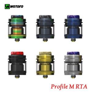 WOTOFO Profil M RTA 3.1ml 4ml NEXMESH ile Uyumlu Clapton Mesh A1 Tel 100% Otantik VS Birlik Ile Çelik Hasır Bobinleri