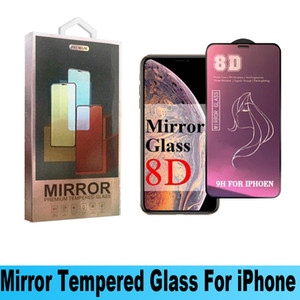 Beauty Mirror Tempered Glass Phone Screen Protector For Iphone 12 pro max iPhone XR X XS MAX 8 8Plus 7 7Plus 6 6Plus 8D Mirror Glass