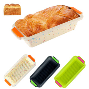 Rechteckige Silikon Formen Brot Toast Mold Küche Backen-Werkzeuge Backformen 3-Art-Küchen Bakeware XD24188