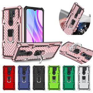 Hybrid Armor Ring Stand Magnetic Car Holder Shockproof Case For RedMi 6 6A 7 7A 8 8A 9 9A Note 8T 9S POCO X3 NFC Huawei Y5P Y6P Y7P Y6S Y9S
