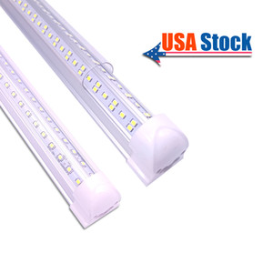 T8 V-Shaped 2ft 3ft 4ft 5ft 6ft 8ft Cooler Door Led Tubes T8 Integrated Led Tubes Double Sides Led Lighting 85-265V