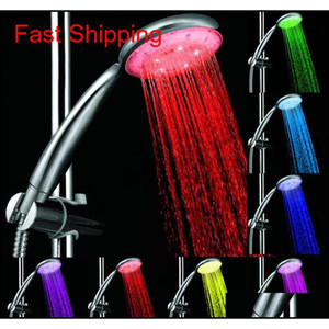 7 Colors Colorful Matic Jump Changing Water Flow Shower Head Bath Faucet Led Handle Water S jllELM insyard