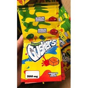 WF2021 Newr Egular Bag Sauer 500 mg Mylar Tasche wiederverschließbare Trockenkräuterblume Geruchssicheres Tasche Verpackung HNFFH
