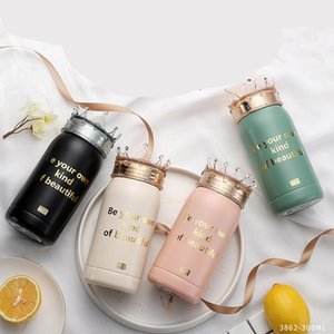Crowns Cover Bottle 300ml Tea Mugs Be Your Own Kind Of Beautiful Water Tumbler Insulated Stainless Steel Cups Milk Coffee 33hh C2