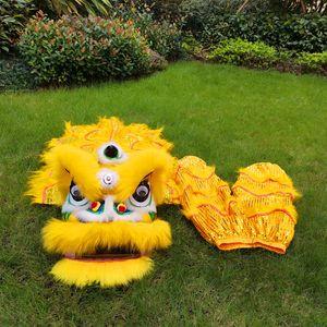 2021 Classic Lion Dance Kid Costume 5-15 Jeux d'âge Props Sous-performance Costume Mascotte Costume Cartoon Outfit Robe Ornamen Sports Jouets Jouets Carnaval