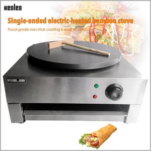 Xeoleo Одноместный тарелка Electric Crepe Maker Коммерческая нержавеющая сталь электрический Crepe Maker Bovance Machine 220VRound Factor