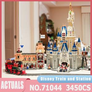 J11001 3350PCS Fairy Tales Детская площадка Поезд Пульт Дистанционного Управления Строительство Кирпич 16008 Образовательные Детские Игрушки Рождество Лучшие Рождественские подарки J1204