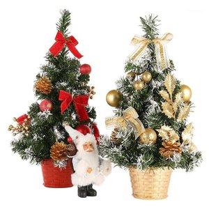 20 см 30 см 40 см 50 см 60 см мини-рождественские елки украшения маленькая сосна, помещенные в настольный фестиваль домой орнаменты1