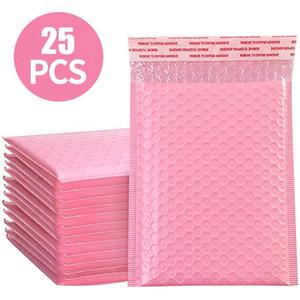 50 stücke Poly Bubble Hülle Rosa Mail Verpackungsbeutel Umschläge Gezeichneter Poly Mailer Selbstsiegel Rosa Internet Versand Taschen Mailer H BBYPVE