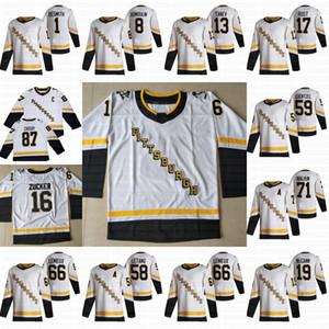 남성 여성 청소년 시드니 Crosby 2021 Reverse Retro Pittsburgh 펭귄 Kasperi Kapanen Jason 주커 Jake Guentzel Evgeni Malkin Kris Letang