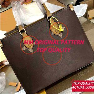 Patrón original de alta calidad OnThego MM GM Bolsos de mano bolsas de mano bolsas de moda bolsa de hombro bolsa de asas casual múltiples picochette bolsas