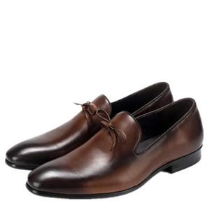2019 мужской обуви из натуральной кожи ботинки платья бизнеса оксфорд джентльмен Moda Italiana дизайнер мужчины оксфорд кожаные ботинки Chaussures