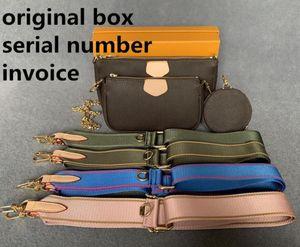 M44823 Preferiti Multi Pochette Accessori Designer Borse 5 PZ L Flower Pattern Leather Style Style Style Borse Borse Borsa a tracolla a tracolla