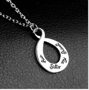 2021 Hot selling fashion lettering My sister my friends good sister necklace zj-1685