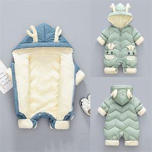New Baby Ropa Snowsuit de invierno más terciopelo grueso mono mono 0-3 años recién nacido mameluca bebé niñas overlismo niño niño -30 201216
