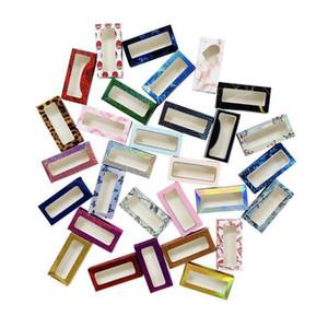 Eyelashes Boxes False Eyelash Packaging Box 3d Mink Empty Boxes Faux Cils Lash Stripe Case Paper Lash Boxes Packag Faux Cils Marble GWC5150