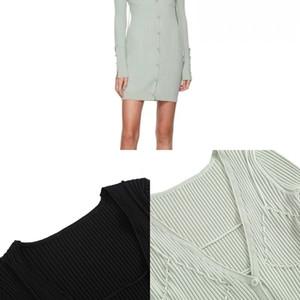 Lungo una spalla a maglia maglione maglione vestito sexy lato scollo a spaccatura club usura donna fuori donna jacquemus cinghia design v donne la bendaggio abito