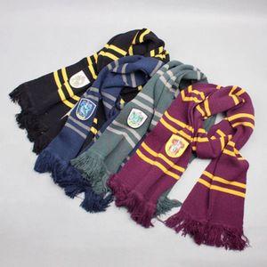 Harry Potter College Scarves Pinstripe Espessura Gryffinder Slytherin Ravenclaw