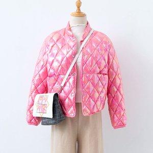 Shuchan Fashion Reflective Chaqueta Ultra-delgada Parka 90% Blanco Pato abajo Botón cubierto Cálido 2020 Invierno