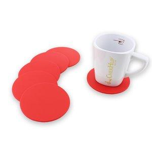 Farbige Silikon Runde Untersetzer Kaffeetasse Halter Wasserdichte Hitzebeständige Tasse Matte Verdicken Kaffee Coaster Kissen Placemat Pad GWF4557