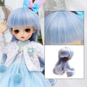 1/6 BJD Puppenzubehör Perücke Haare für 30 cm BJD Puppe Mädchen Jungen Haare für DIY Dress Up Girl Toys Zubehör 201203