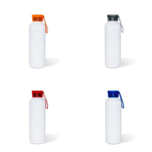 DIY Sublimation Blank Motion Kettle 750ML White Thermal Transfer Printing Transparent Cover Aluminum Water Bottles 8 36ty J2