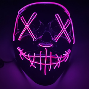Halloween Mask LED Light Up Party Masks The Purge Election Year Great Funny Masks Festival Cosplay Costume Supplies Glow In Dark GGB3174