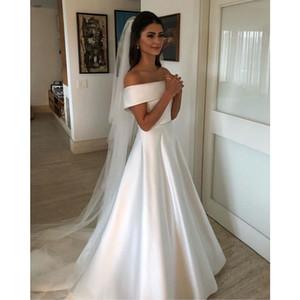 robe de mariee vestido boho wedding dress satin longue wedding Dress Robe De Soiree simple robe de soiree bride to be