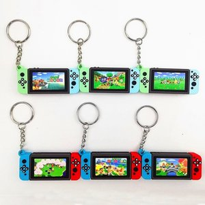 Animal Crossing Mario Bros Toys Switch Game Machine Keychains Key Chains Fashion Pendants Key Ring Boys Figure Toy Gift