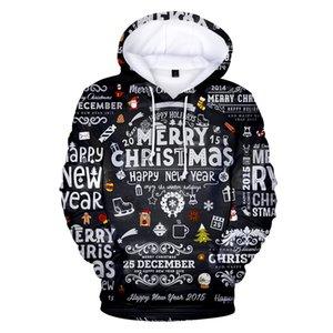 3d Printed Merry Hoodies Men women Happy New Year Hoodie Men's Sweatshirts Christmas Clothes Boy girls Kids Coat