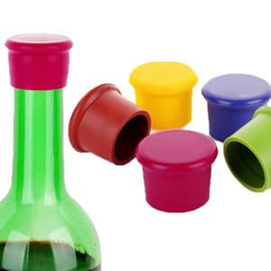 500pcs de la bière de vin de silicone réutilisable Top bouchon bouchon bouchon boisson sauver étincelant boisson maison cuisine bar Bar outils GWD3519