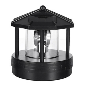24V Solar LED Rotating Lighthouse Light Outdoor Waterproof Garden Yard Lawn Lamp Lighting Home Decor
