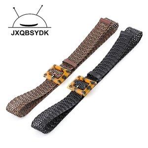 JXQBSYDK Cinturones para mujer Moda Pin Hebilla Individualizada Cinturones Hollow Hembra PU de cuero PU Cinturones Mujeres J1209